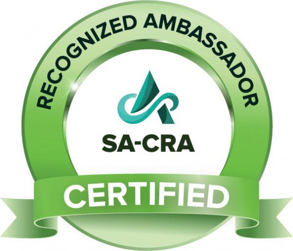 SA Recognized Ambassador Certificate