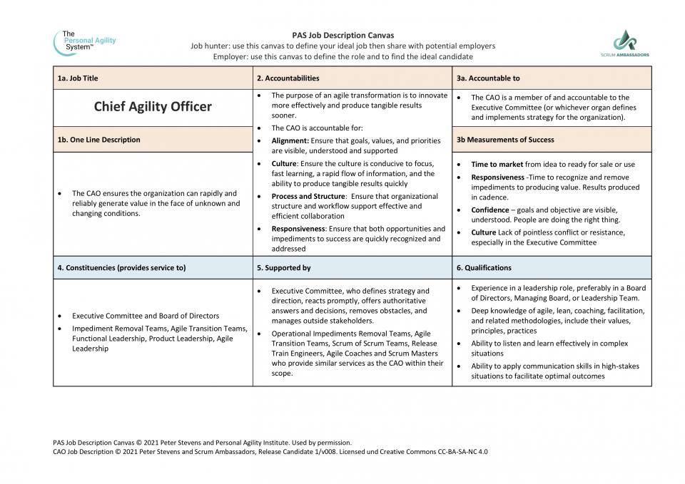 CAO Job Descritption (Page 1)